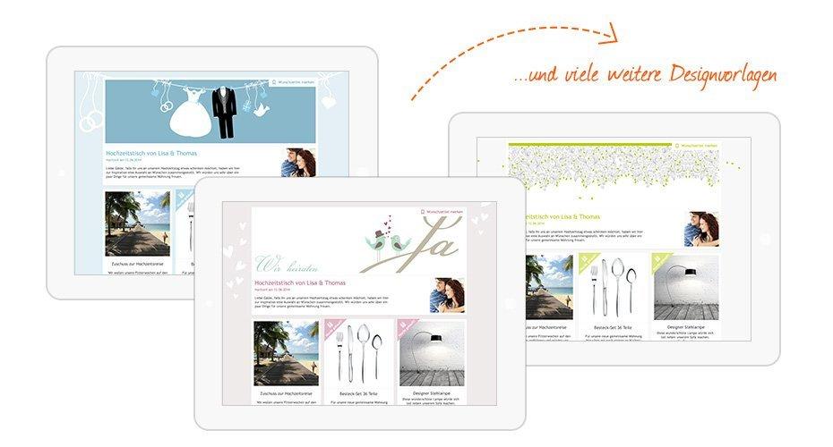 Design Beispiel für Hochzeitstische